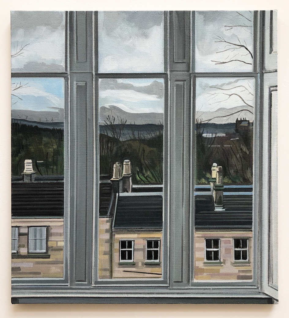Wilton St. Window 2 , 28. November 2017, 22 x 20 inches, acrylic on linen.