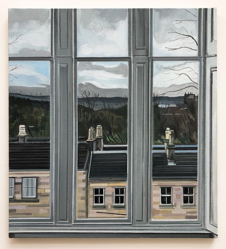 Wilton St. Window 2 , 28. November 2017, 22 x 20 inches, acrylic on linen.