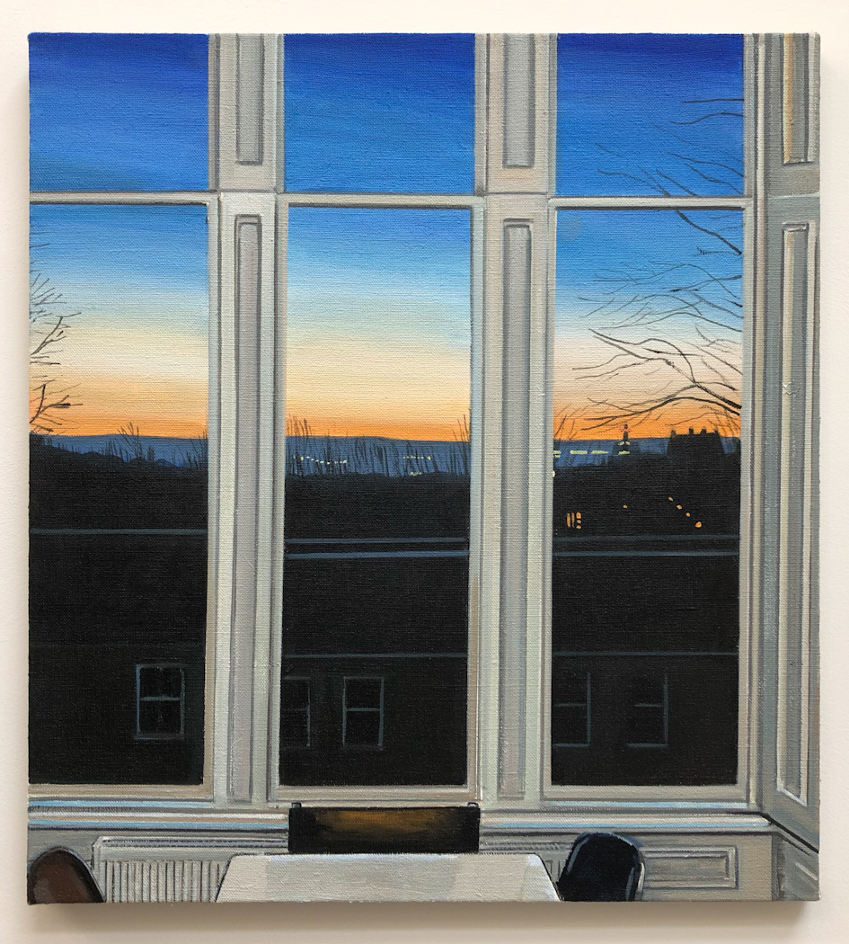 Wilton St. Window 6 , January 2018, 22 x 20 inches, acrylic on linen.