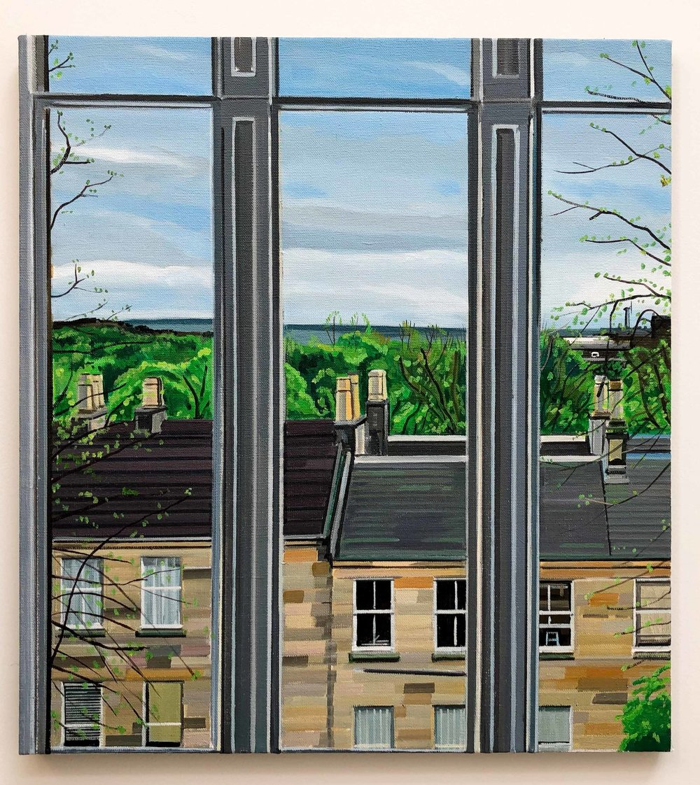 Wilton St. Window 12 , 6. May 2018, 22 x 20 inches, acrylic on linen.