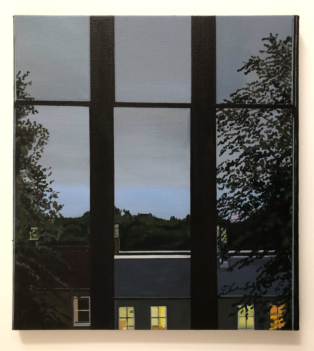 Wilton St. Window 17 , 2. August 2018, 22 x 20 inches, acrylic on linen.