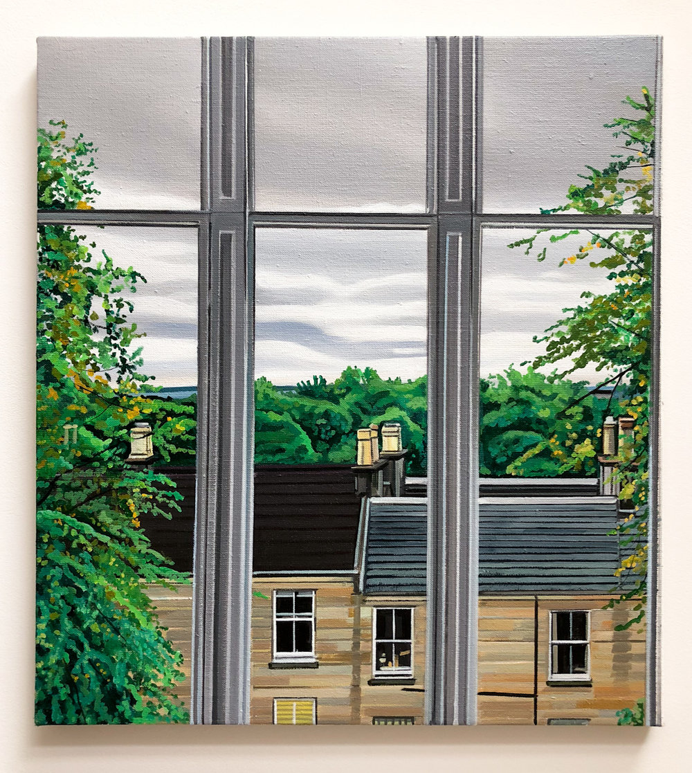 Wilton St. Window 18 , 3. September 2018, 22 x 20 inches, acrylic on linen.