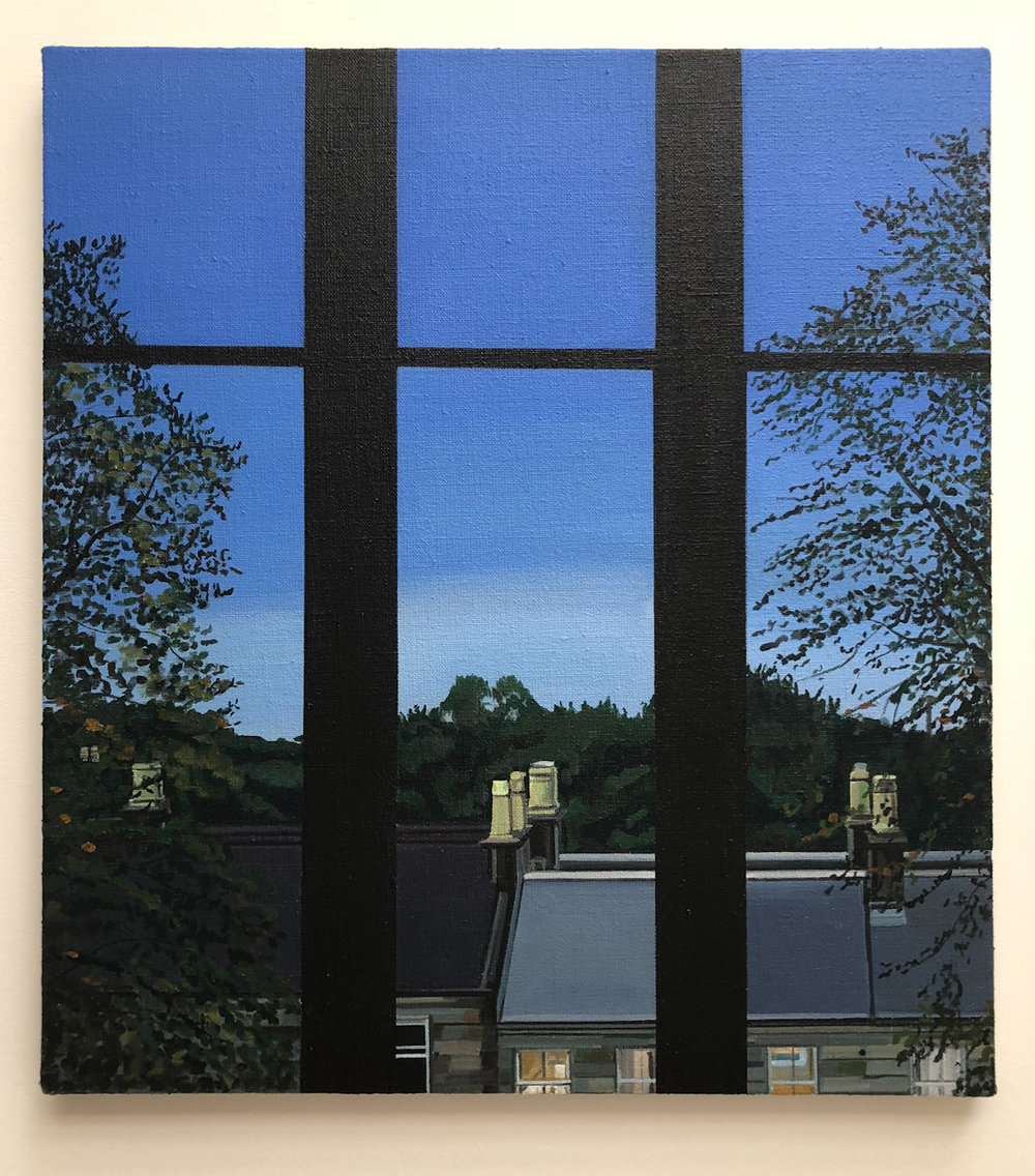 Wilton St. Window 19 , 13. September 2018, 22 x 20 inches, acrylic on linen.
