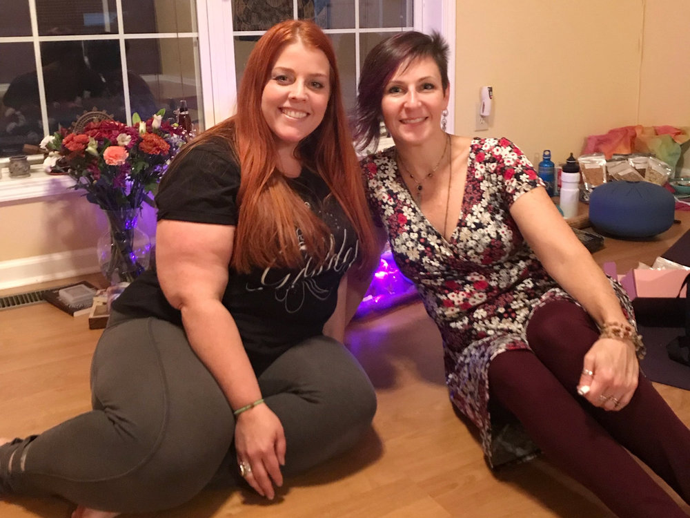 "Katie and I at ""Tending the Goddess Within"" workshop."