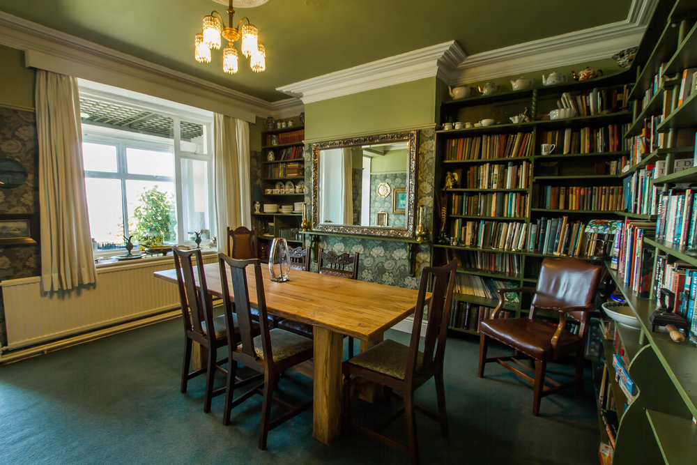 Dining Room and Library at Hafod Wen