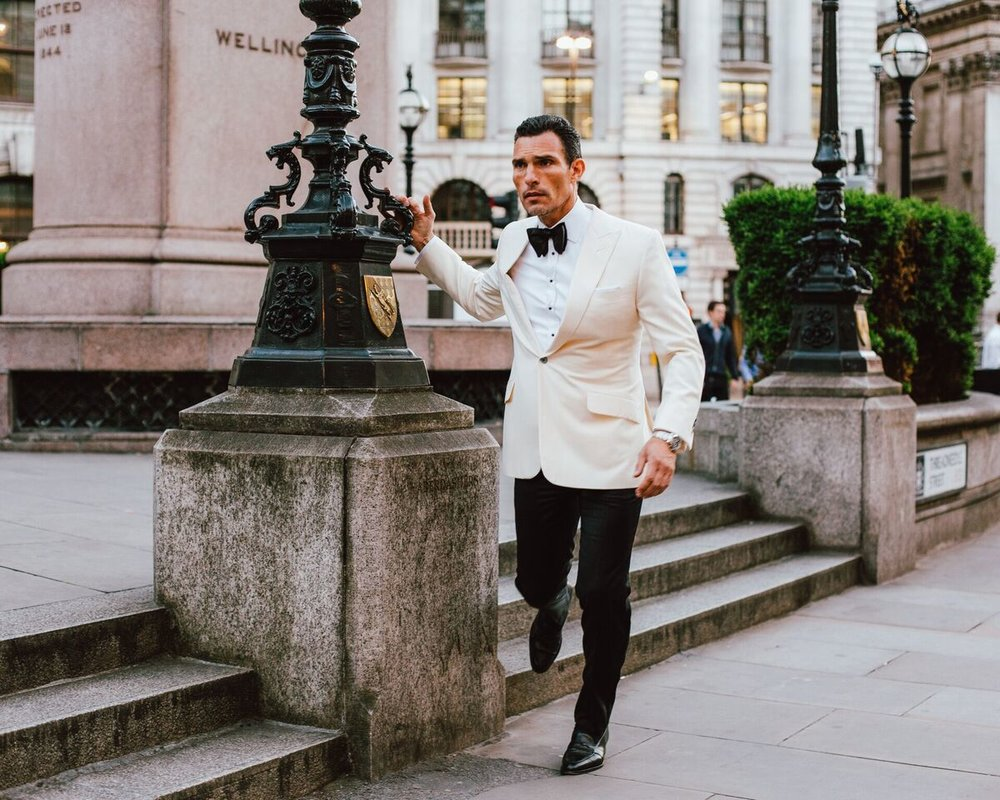 Sartor London white dinner jacket