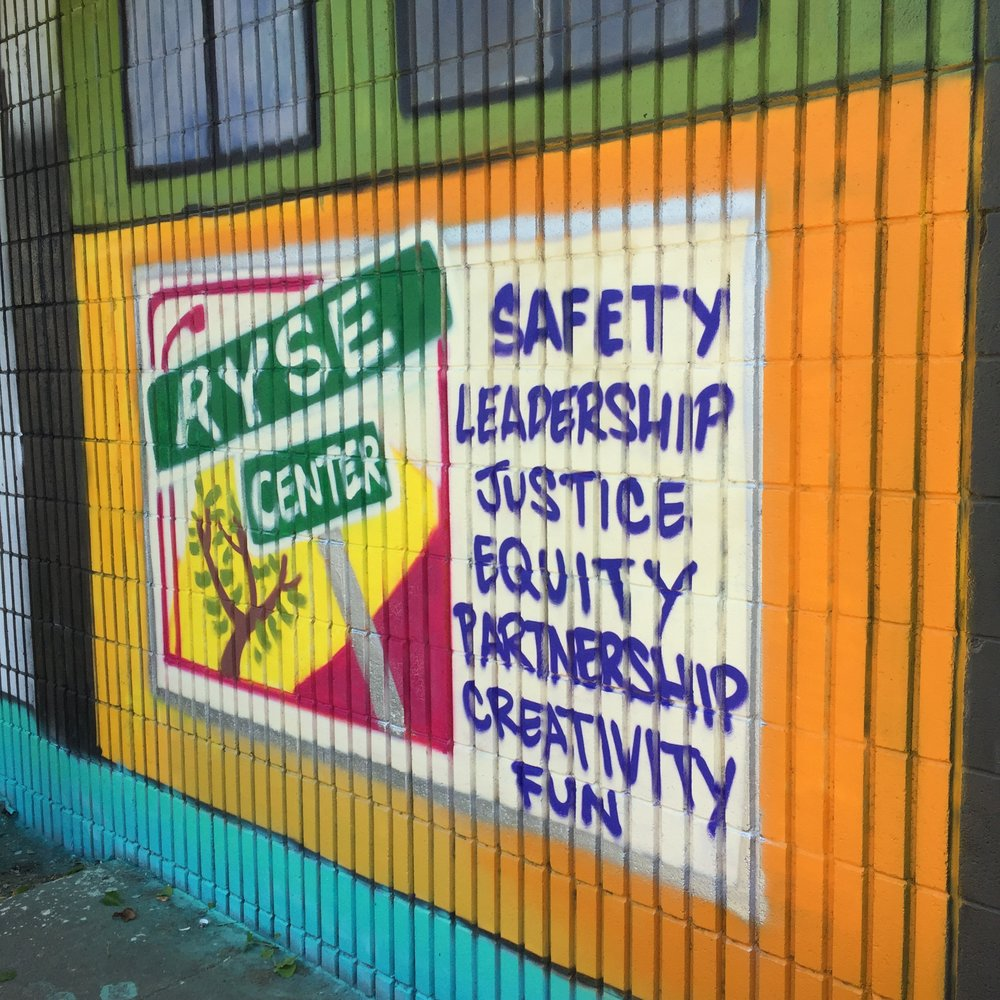 Community Mural at AC Transit's Richmond bus yard