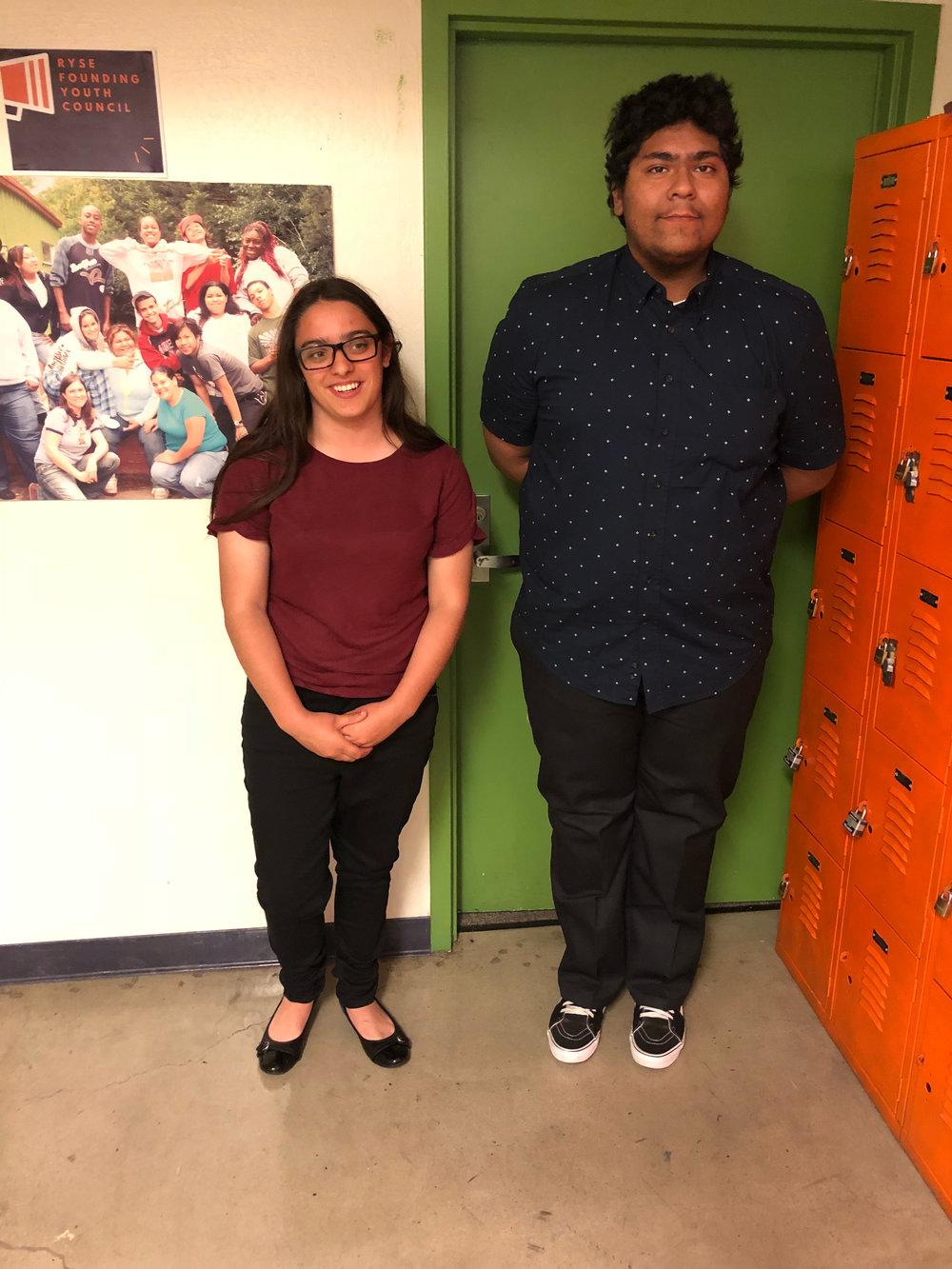 Congratulations Zari and Angel on their internships!