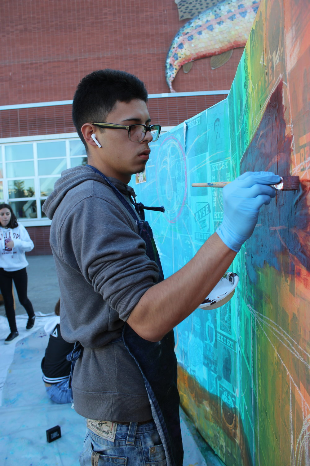 Behind the Scenes: Keep Families Together Mural