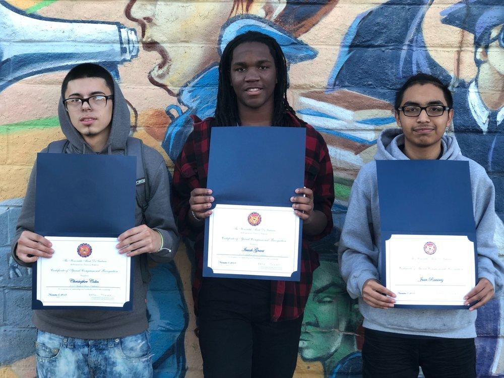 Youth of Honor Awardees