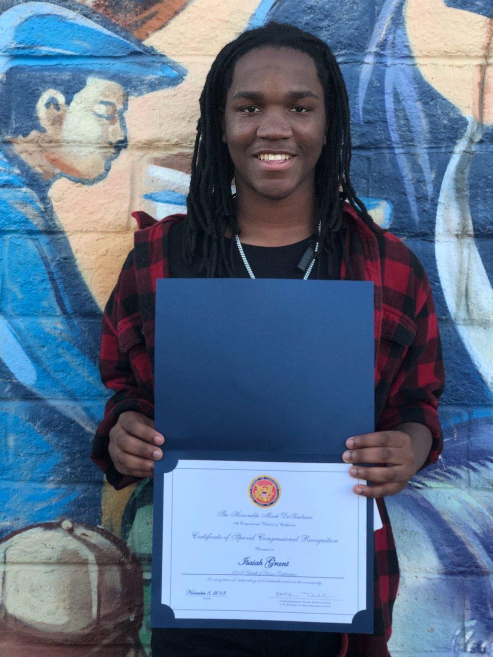 Youth of Honor Awardee: Isaiah Grant