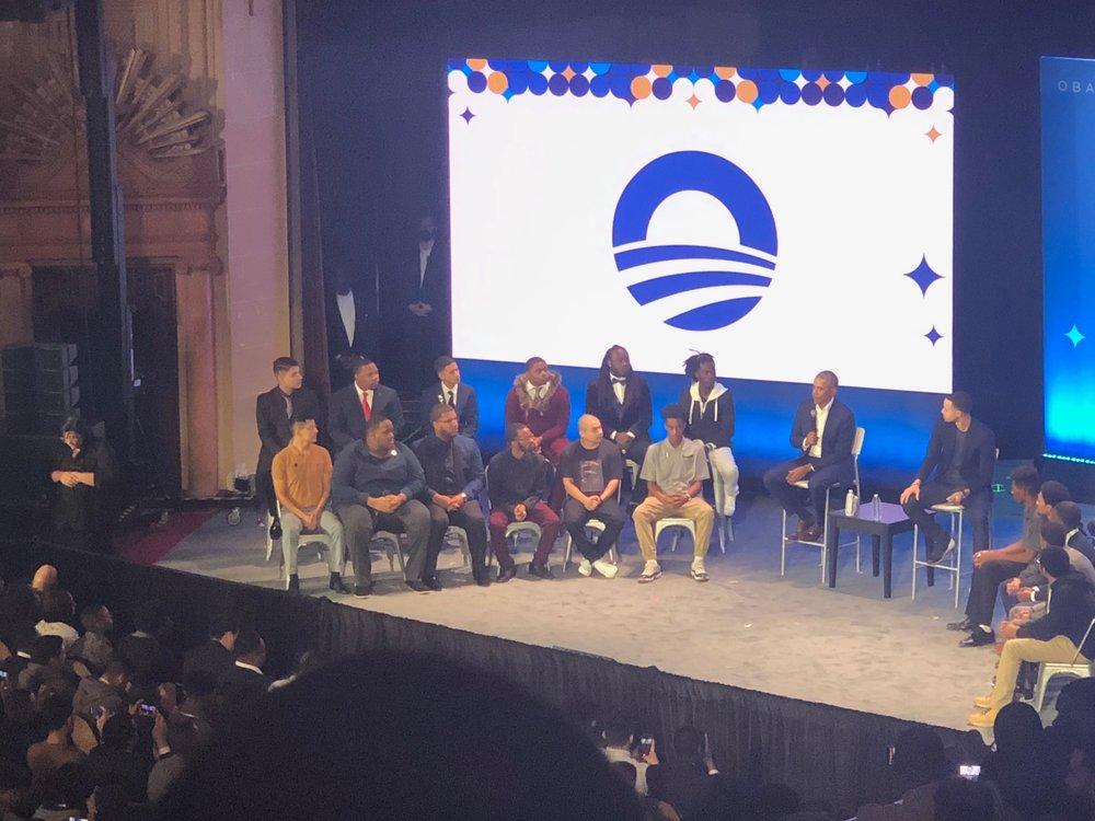 Youth Justice Assistant Tj Sykes at Obama Foundation's MBK Rising!