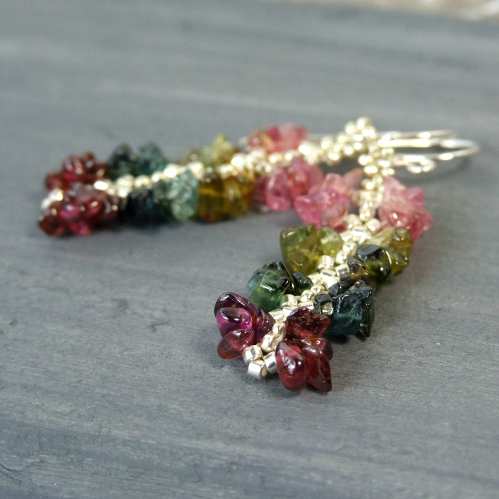Rainbow Tourmaline Earrings