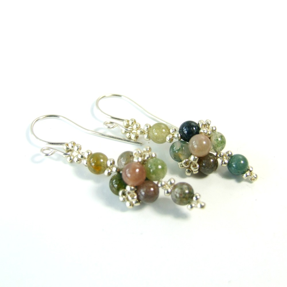 Indian Agate Small Dangle Earrings