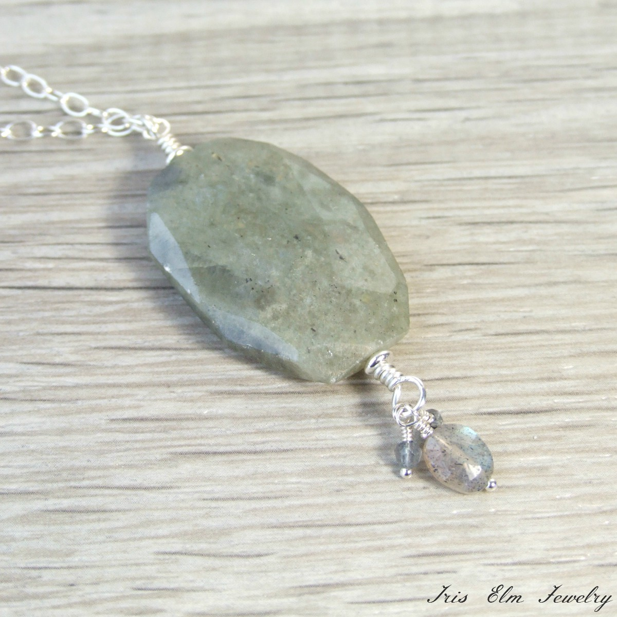 inches necklace chain blue flash products silver img stone natural on labradorite sterling pendant