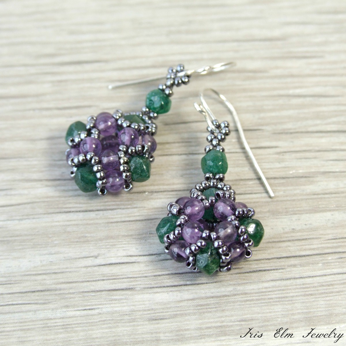 dichroic dp purple silver body amazon with drop candy handcrafted jewelry crystals created dangle com swarovski earrings