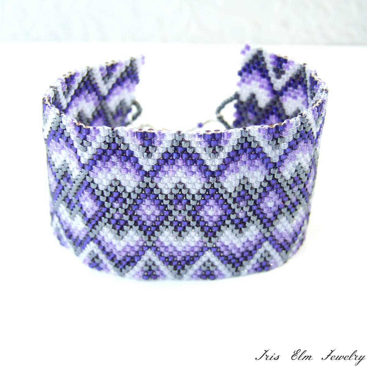 purple leather bracelet vipera python