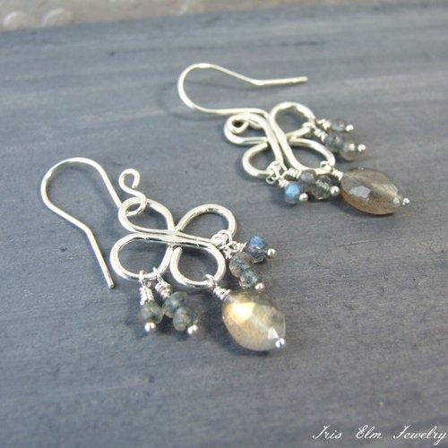Labradorite sterling silver chandelier earrings iris elm jewelry labradorite sterling silver chandelier earrings aloadofball Choice Image