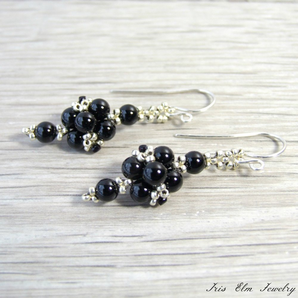 Black Onyx Small Dangle Earrings