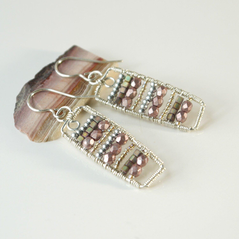 Sterling silver earrings Bohemian