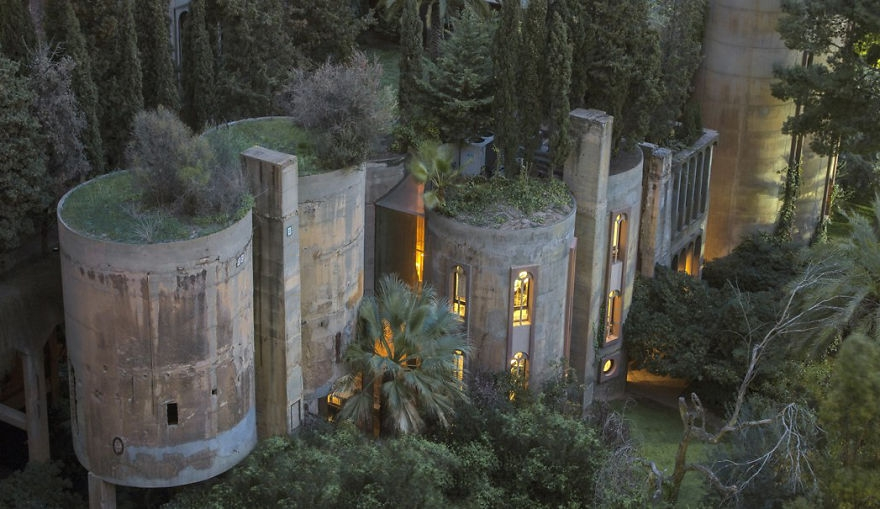 Cement Factory Turned Family Residence by Ricardo Bofill.