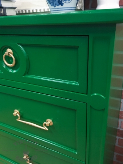 Handsome dresser refinished by husband and wife team Vintage Refined.