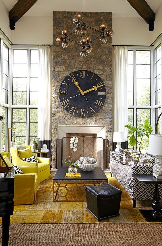 Oversized Clock - Interior by kylieminteriors.ca