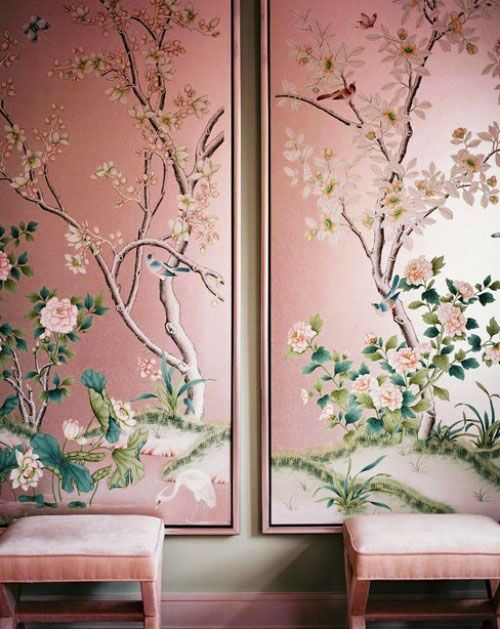 Pink Chinoiserie. Source: Unknown.