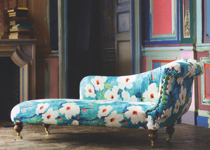 Do you have an old chaise somewhere which you could have upholstered in a contemporary fabric like this floral? Choose colours that work with the rest of your decor and you could add a wonderful character piece to your home.
