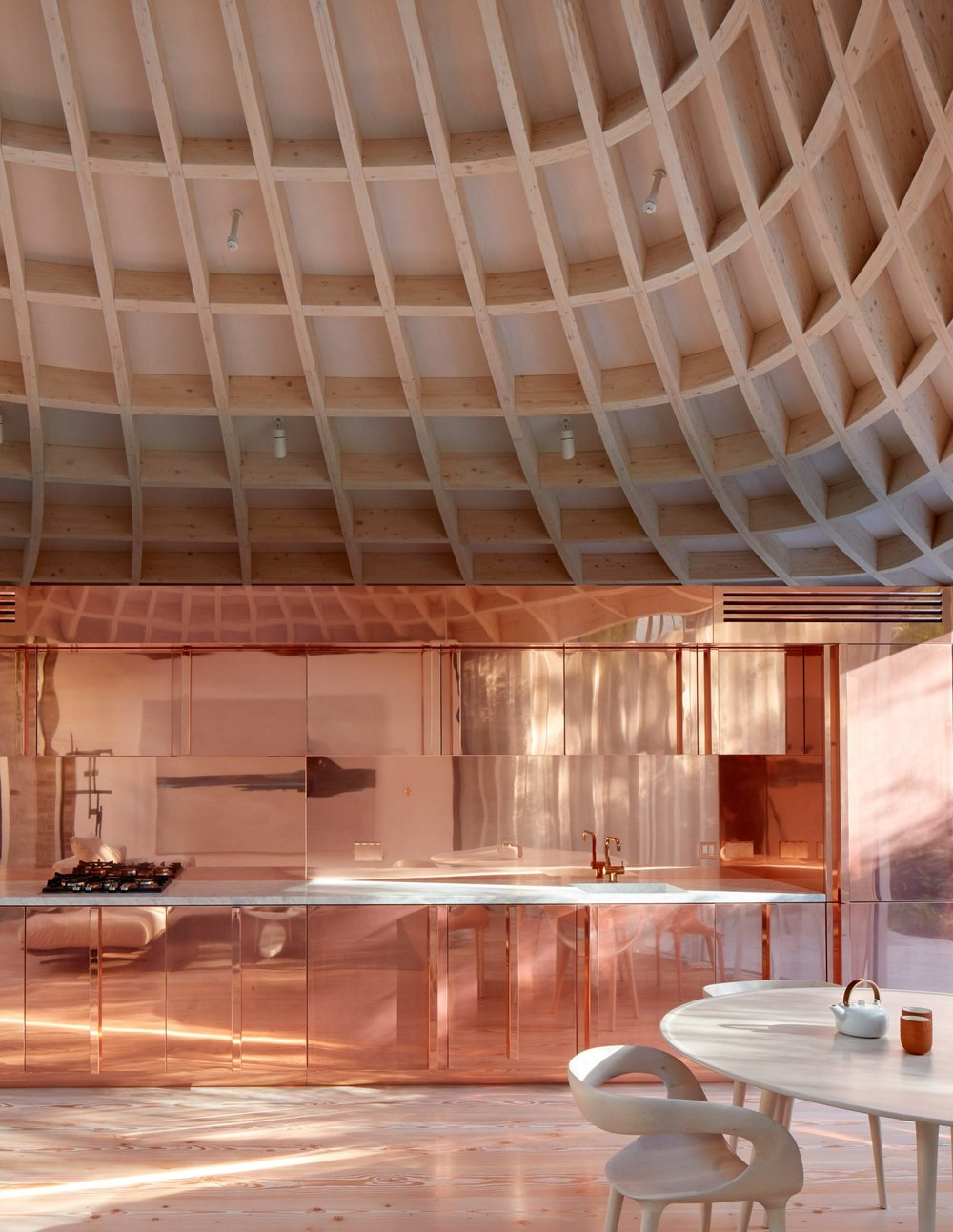 Copper Kitchen Cabinetry