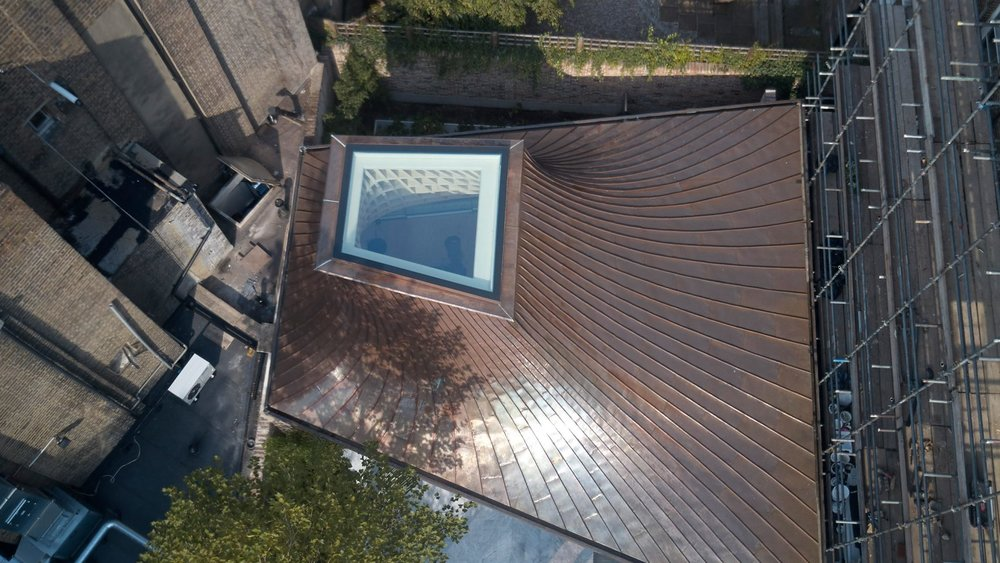 Copper Roof with Light Well