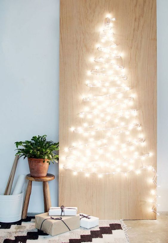 Lights on Plywood