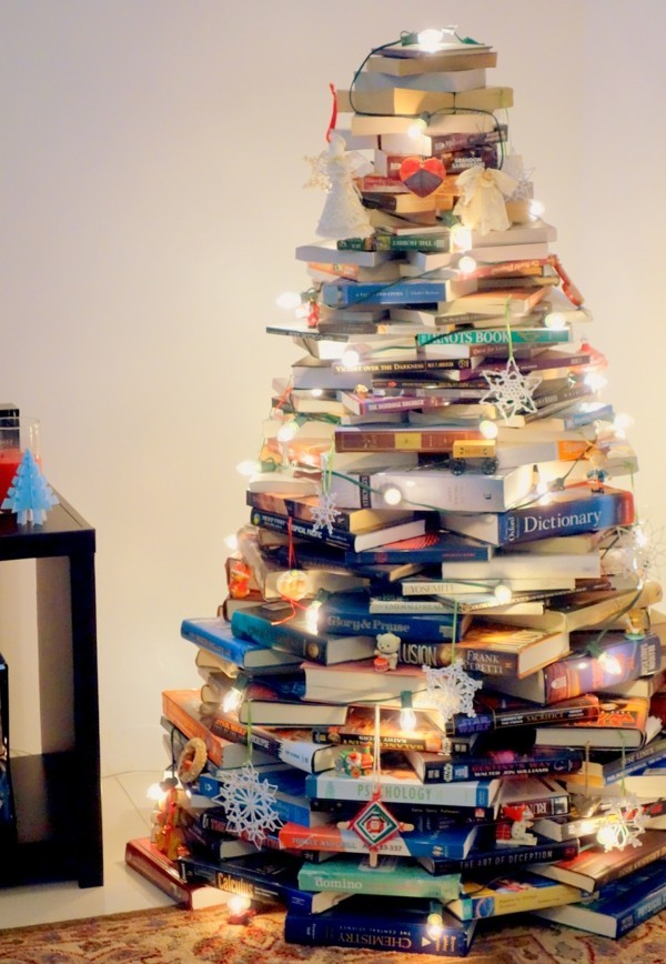 Stacked Book Tree
