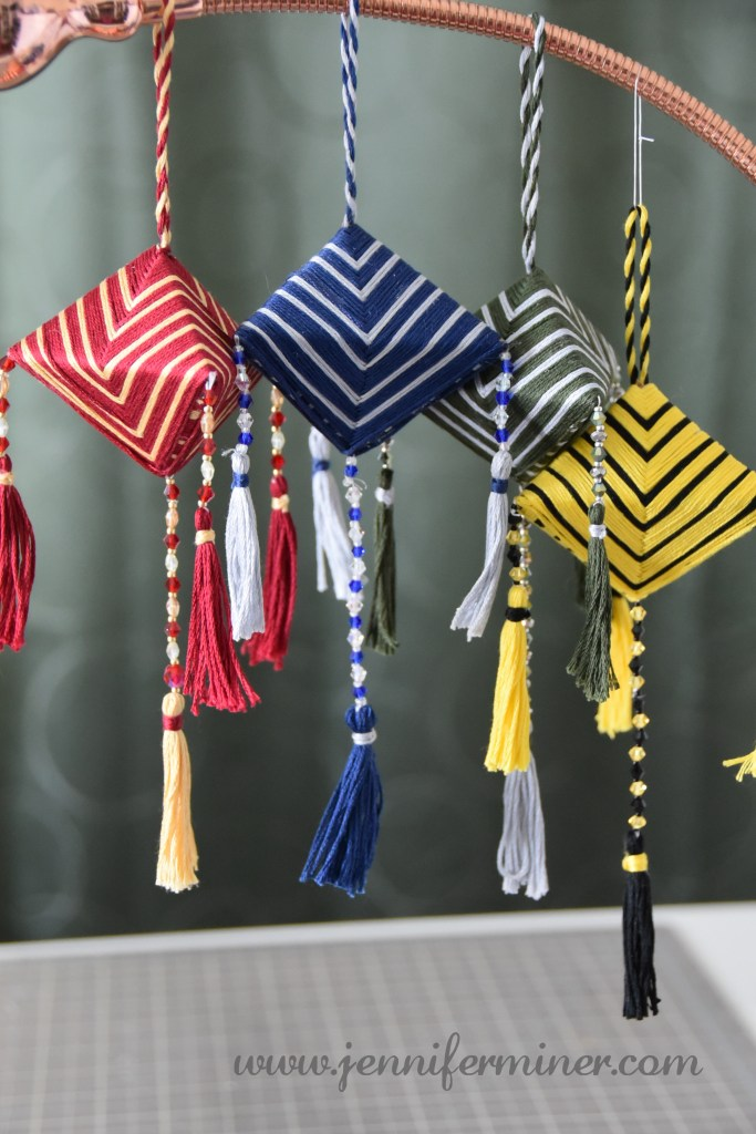 Japanese Komas in embroidery floss.
