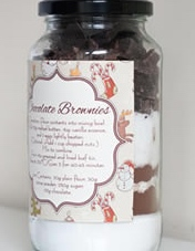 Mason Jar With Ingredients For Brownies - Source: www.homemade-gifts-made-easy.com