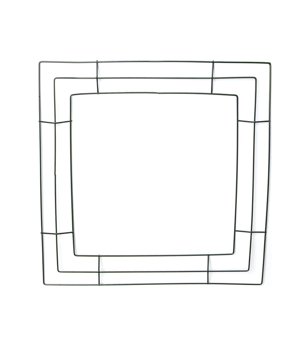 Square Wire Wreath