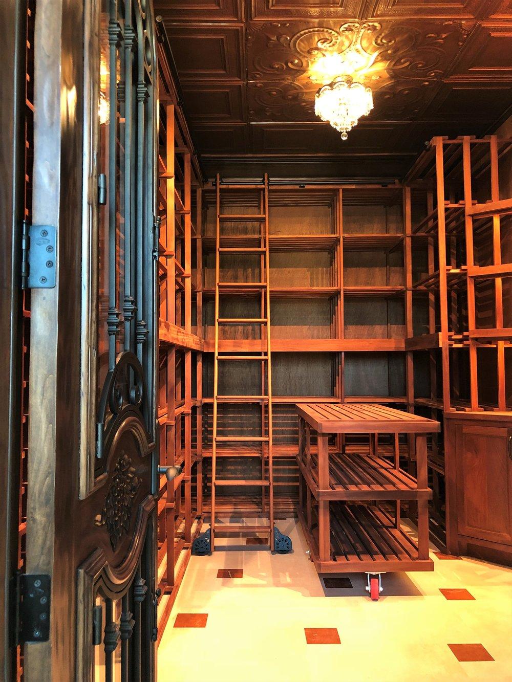 High end wine cellar