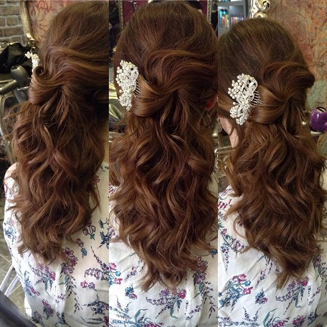 Beautiful hair up by our amazing Holly 💎