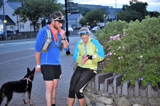 The finish in Llanberis, trying to work out what time it was! Photo by Forest Bethell