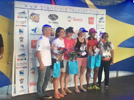 The senior women's podium