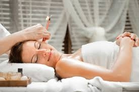 - A very ancient therapy, very simple and safe.Ear candling involves inserting a long, cylindrical candle made of beeswax or soy, plain or herbal in the ear and lighting it on the other end. Heat produces from t he candle helps to draw out excess ear wax and other debris which may be present in the ear canal.It helps with: *Swimmer's Ear,  Ear infections, Plugged Ears, Relieves tinnitus, helps to relieve Sinus pain and pressure, headaches, itchy ears and removes excess wax build up.for better results should be done three times, once or twice a week or until the excess wax or water has been removed.                  $ 29.00