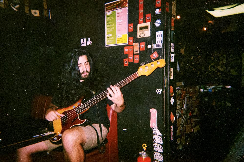 Andy with Hajime's bass