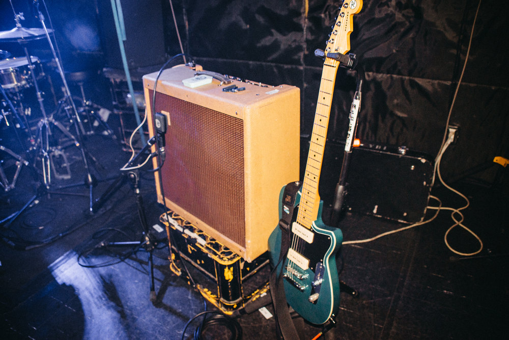 Tanner's guitar / amp