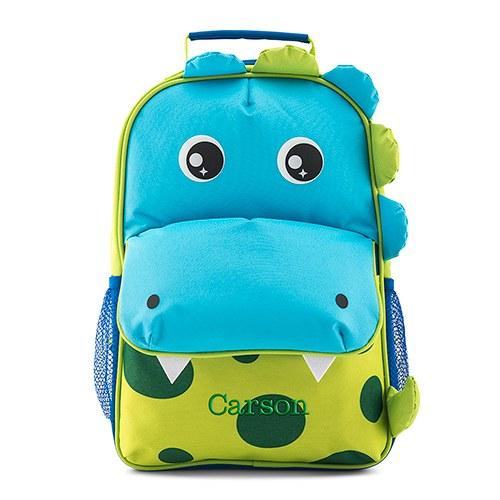 Personalised Dinosaur Boys School Bag Backpack Kids Childrens Nursery Dino KK25