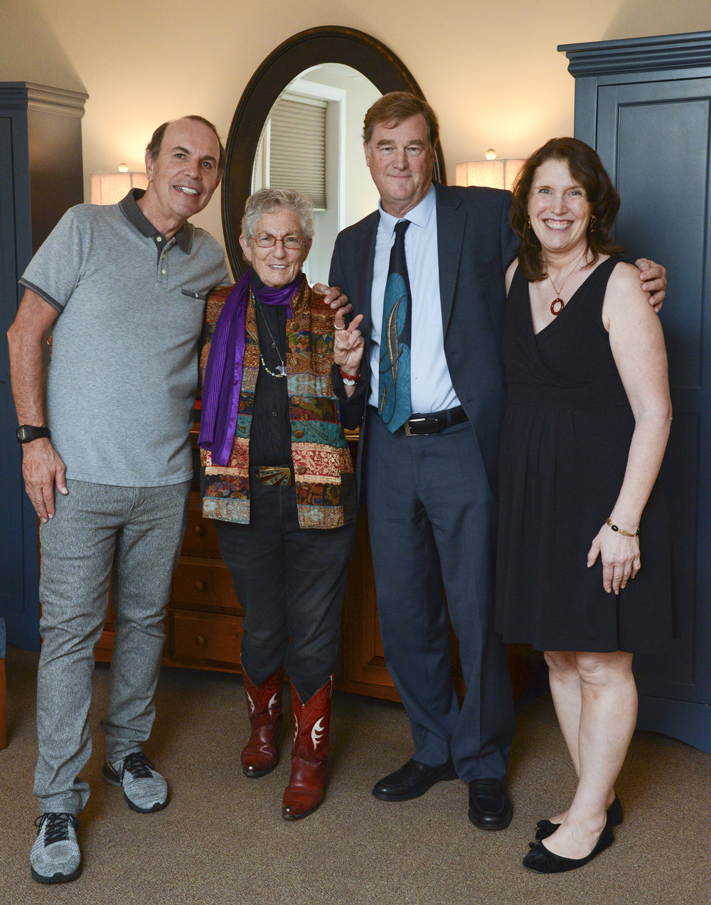 Festival Co-Chairs Ron Collins and Jen Mason w/ Keynote Presenter Blanche Wiesen Cook and Interviewer Paul Sparrow