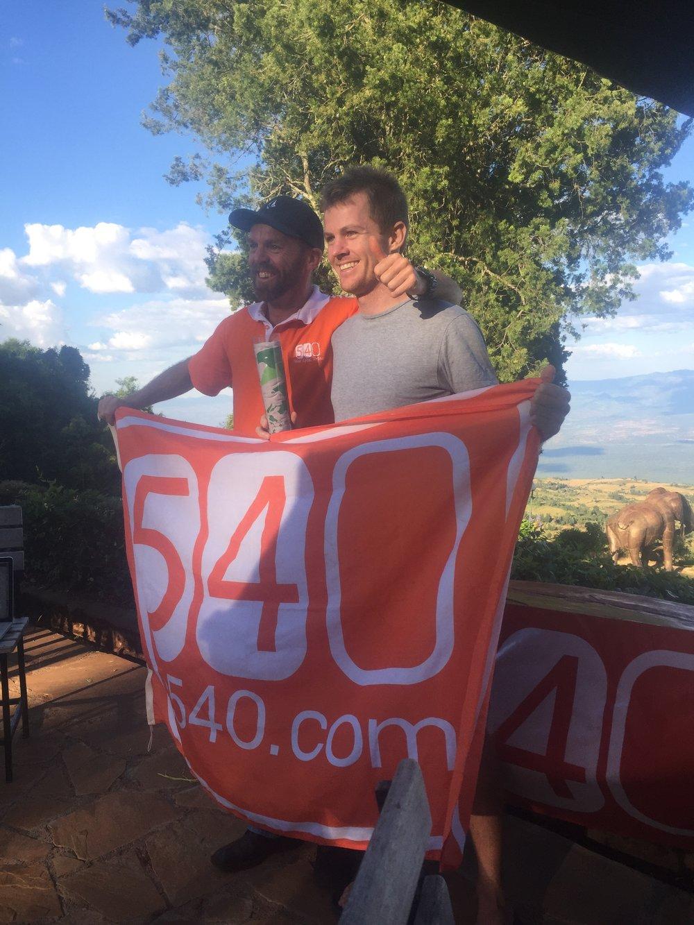 Organiser Simon Blake (left) and Mens winner Peter Horsey (right).