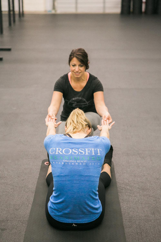 Pilates sessions in progress