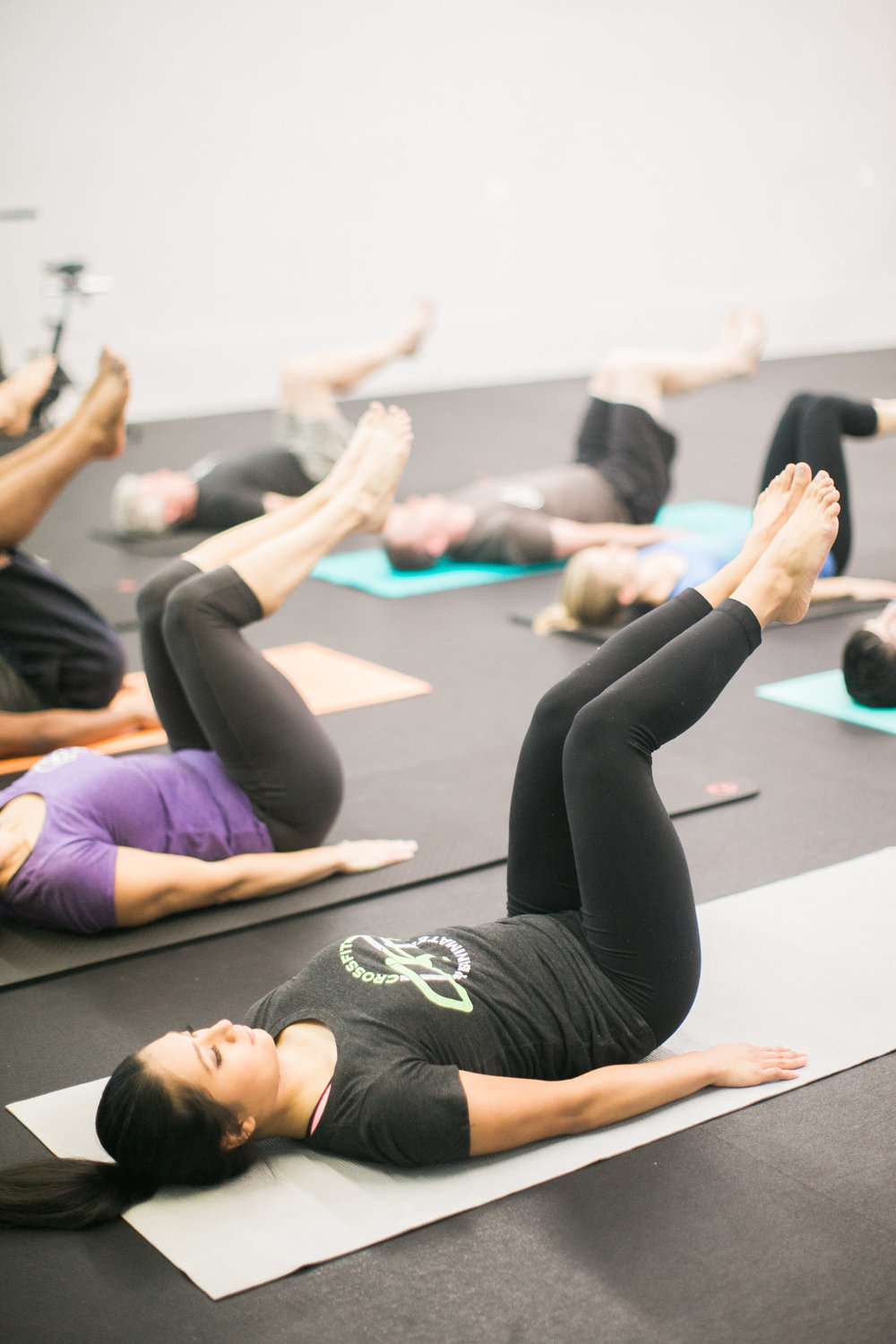 Small group Pilates class