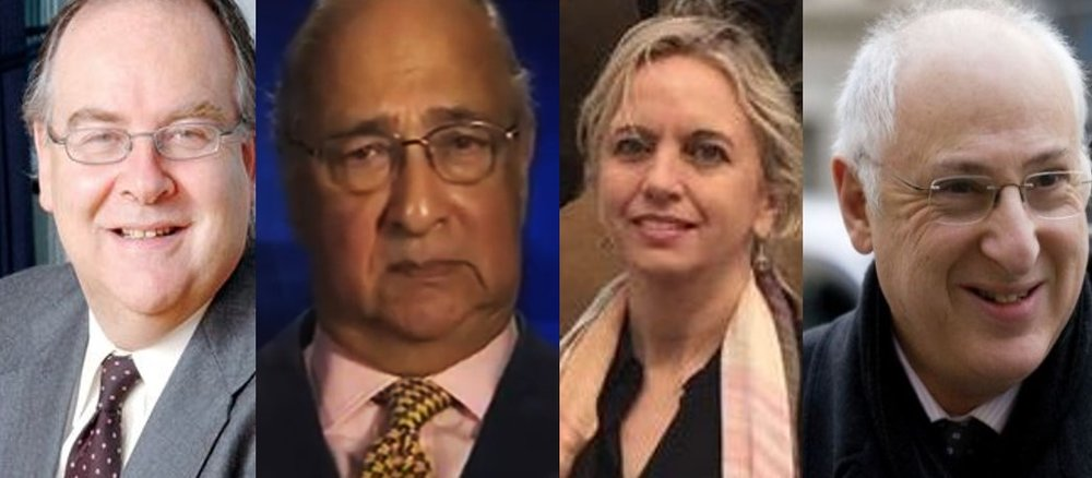 Lord Falconer of Thoroton, Sir Desmond De Silva, Kirsty Brimelow QC and Lord Carlile of Berriew.