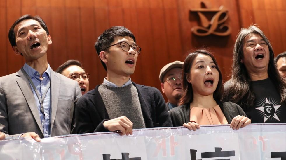 Edward Yiu Chung-yim, Nathan Law Kwun-chung, Lau Siu-lai & Leung Kwok-hung. Photo: South China Morning Post